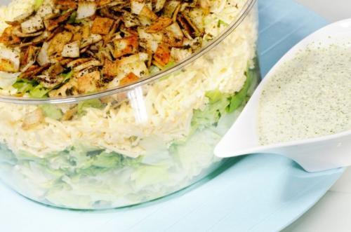 Lettuce & Zattar Bread salad