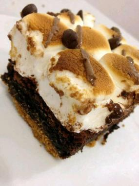 brownie with marshmallows