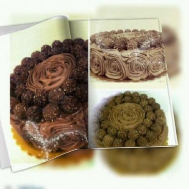 ferrero rosheh cake